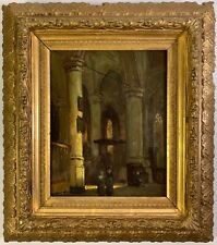Listed Artist Jan Baptiste Tetar Van Elven (1805-1879) Signed Oil Painting