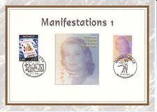 MONACO CEF PREMIER JOUR 2001 TIMBRE N° 2295 / 2305 TELEVISION PRINCESSE GRACE