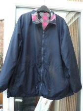 Ladies/Womens Dark Blue Lightweight Long Sleeve Jacket Coloured Lining L/XL??