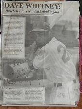 AUTOGRAPHED>B&W>PHOTO>NEWSPAPER CLIPPING> NEGRO BASEBALL>DAVE WHITNEY
