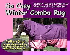 """COMFORT SO COSY 6'3"""" W'PROOF 1680D WINTER PADDOCK HORSE COMBO RUG"""