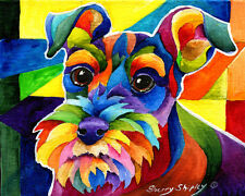 SCHNAUZER 8X10 DOG   print by Artist Sherry Shipley