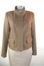 Apriori Jacke 38 braun Flanell Blouson Blazer Polyester jacket neu mit Etikett
