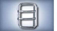 "5ea 1-1/2"" Steel Roller Buckles Two Tongue Nickel Plate 999St2T"