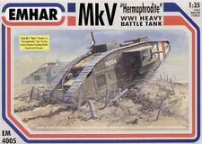 EMHAR 1/35 MK V hermafrodita WWI Pesado Tanque De Guerra #4005