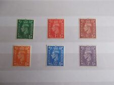 Gb Gvi 1941 Definitives Light Colours Superb M/N/H (Sg 485-490) Cat £3.50