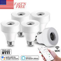 Smart Bulb Light Lamp E26/E27 Outlet WIFI Adapter For Amazon Alexa Google Home