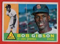 1960 Topps #73 Bob Gibson GOOD CREASE 2nd YEAR St. Louis Cardinals FREE SHIPPING