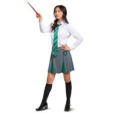 Womens/Teen Harry Potter Slytherin Halloween Costume Uniform Skirt Jr S M L XL