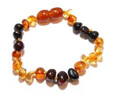 Genuine Baltic Amber Children Anklet Bracelet for Child Mixed Beads 5.5 - 5.9 in