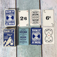 Vintage 1930`s SUM-IT Card Game Complete