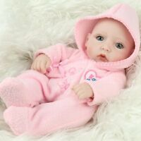 "Baby Girl Soft Hot Handmade Realistic Reborn Vinyl Real Lifelike  Dolls10"" Gifts"