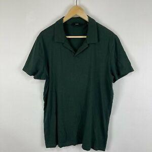 Saba Mens Polo Shirt Size L Large Green Short Sleeve Collared