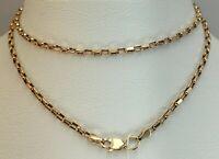 Vintage Original Rose Gold Chain 14KT 585 50 cm, Solid Gold Necklace Chain 14KT