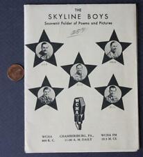1940s Wwii Chambersburg,Pennsylvania Wcha Radio Hillbilly Skyline Boys program!*