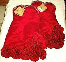 MAKE OFFER!BNWT-2 BEAUTIFUL Red Roses Bridesmaids Dresses-14-Pair or Individual!