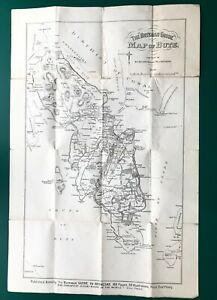 """1882 The """"Buteman Guide"""" Map Isle of Bute Argyll Scotland by Wilson Rothesay"""