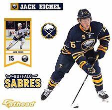 "Jack Eichel FATHEAD Buffalo Sabres Logo Official NHL Vinyl Wall Graphic 17"" INCH"