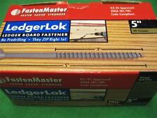 "50 pcs Fasten-Master Ledgerlok 5"" Hex Drive Washer Screws Treated Pt Deck Timber"