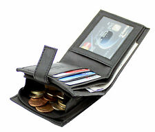 Da Uomo RFID Real Leather Wallet porta carte credito tasca con zip moneta da & finestra ID 44