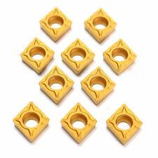 10* Wendeplatten CCMT060204-HM YBC251 Größen für Aluminium Rostfreier Stahl Neu