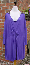 SIZE 24 Gorgeous Purple Embellished Shoulder Tunic Dress