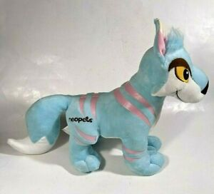 "✰JAKKS Pacific NEOPETS Series 3 Jumbo STRIPED LUPE 15"" Plush - Blue/Pink - 2008✰"