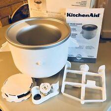 Kitchenaid Stand Mixer Ice Cream Maker Attachment KICA0WH