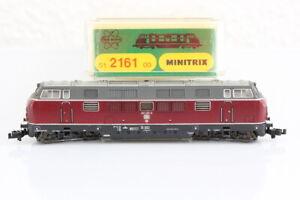 N Minitrix 2161 EMS 221 137-3 Diesellok analog dunkelrot OVP/J55
