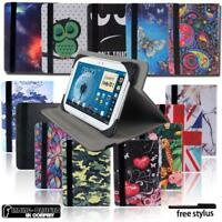 Folio Leather Rotating Stand Cover Case For Samsung Galaxy Tab A/E/J/S Tablet