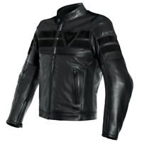 New Dainese 8 Track Perforated Leather Jacket Men's EU 56 Black #153381969156