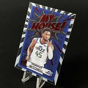 2020-21 Clearly Donruss Donovan Mitchell RED /49 My House SSP Case Hit! Jazz