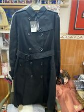 NWT Burberry Black Classic Trench Coat Size USA 4 UK 6 ITA 38