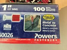 "Powers Fasteners 50026 1"" x .300 Drive Pins 7 Boxes of 100 = 700) FREE SHIPPING"