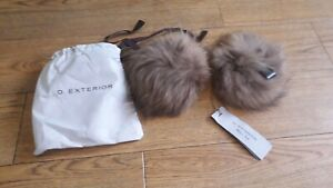 D.Exterior real raccoon fur cuffs.RRP £130.Brown.transform your jacket or coat!