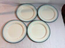 4 Hearth and Hand Magnolia Enamel Dinner Plates Blue Black Cream
