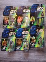 Lot of 6 Star Wars Power Of The Force Action Figures New In Box