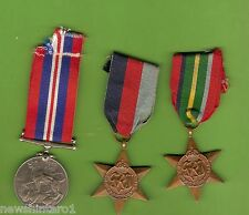 #D165. THREE  WWII AUSTRALIAN  MEDALS TO A.R. MONKLEY NX152898
