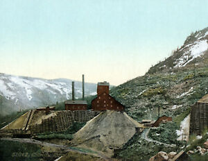 "1898-1905 Aspen Silver Mines, Colorado Vintage Photograph 8.5"" x 11"" Reprint"