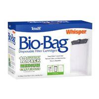 Tetra Whisper Bio-Bag Cartridge Unassembled Medium 12-Pack Fish Tank Aquarium .