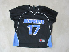 Nike John Hopkins Lacrosse Jersey Adult Large Black Lax Game Used College Mens