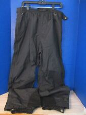 Helly Hansen~Black HELLY-TEC Lined NYLON SHELL PANTS~Men's Large