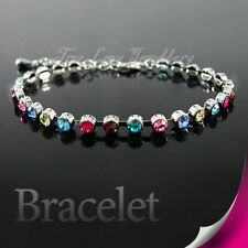Crystal White Gold Plated Fashion Bracelets