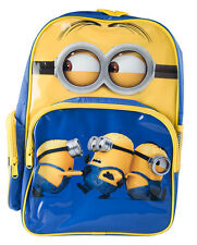 Minions Backpack Despicable Me Kids Girls Boys School Book Bag Luggage Toy New