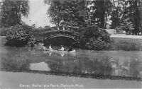 Detroit Michigan~Belle Isle Park~Canoeing Canal~Arch Bridge~1905 B&W Rotograph
