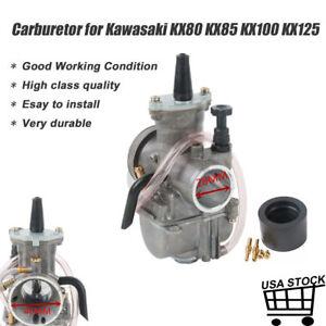 Carburetor With Intake Needle Jet Replacement For Kawasaki KX80 KX85 KX100 KX125