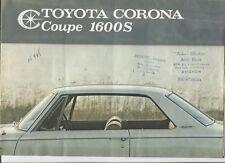 N°9693 / dépliant TOYOTA CORONA Coupé 1600 S   texte français