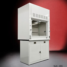 ...Laboratory ( FOUR FOOT ) Fume Hood WITH Epoxy Top and saftey Cabinet - ...