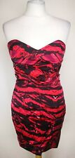 Lipsy London Womens Mini Dress, Size 10, Red/Black, New With Tags