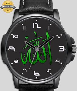 Islamic Calligraphic Art Allah In Arabic  Unique Beautiful Wrist Watch UK FAST